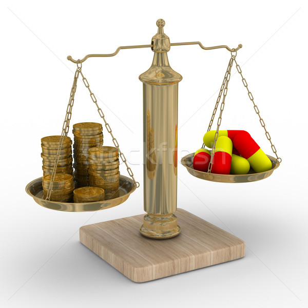 Paid medicine. Cost of treatment. Isolated 3D image Stock photo © ISerg