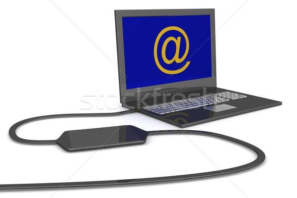 Laptop email 3D kép üzlet technológia Stock fotó © ISerg