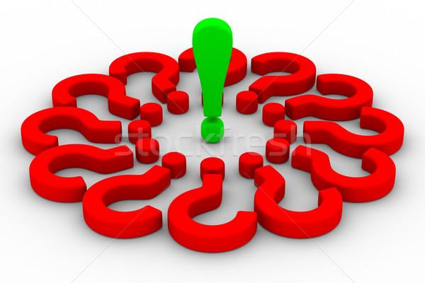 Preguntas signo de admiración aislado 3D imagen signo Foto stock © ISerg