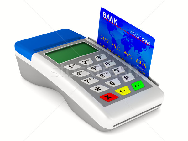 Bezahlung weiß isoliert 3D Bild Warenkorb Stock foto © ISerg