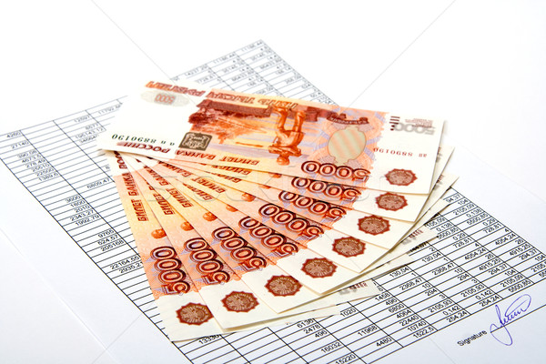 Cash russisch geld document business succes Stockfoto © ISerg