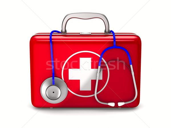 応急処置 キット 白 孤立した 3次元の図 ボックス ストックフォト © ISerg