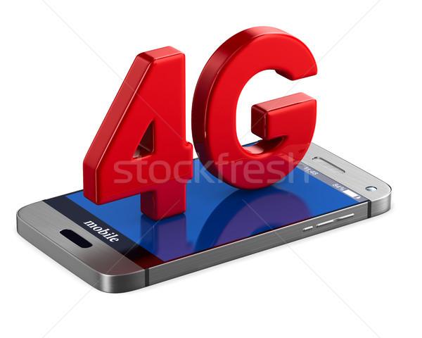 4g telefon fehér izolált 3d illusztráció technológia Stock fotó © ISerg