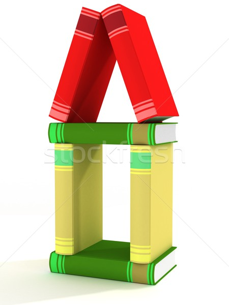 house constructed of books. 3D image. Stock photo © ISerg