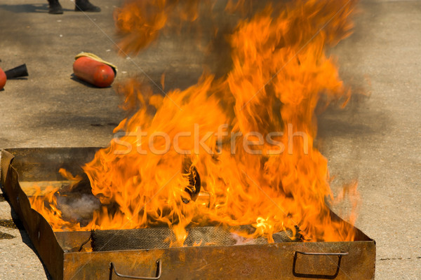 Fire in the pallet. Abstraction Stock photo © ISerg
