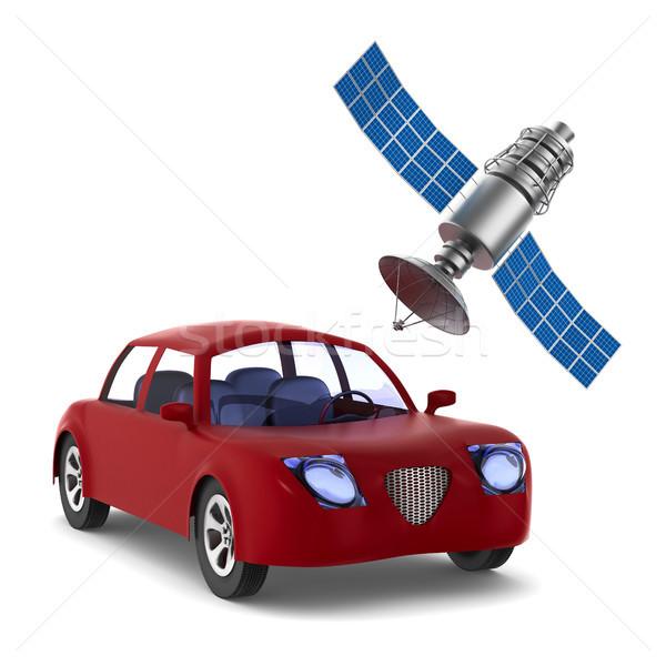 Navegación aislado 3d coche espacio móviles Foto stock © ISerg