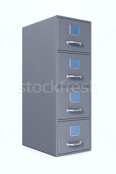 Filing cabinet on white background. Isolated 3D illustration Stock photo © ISerg