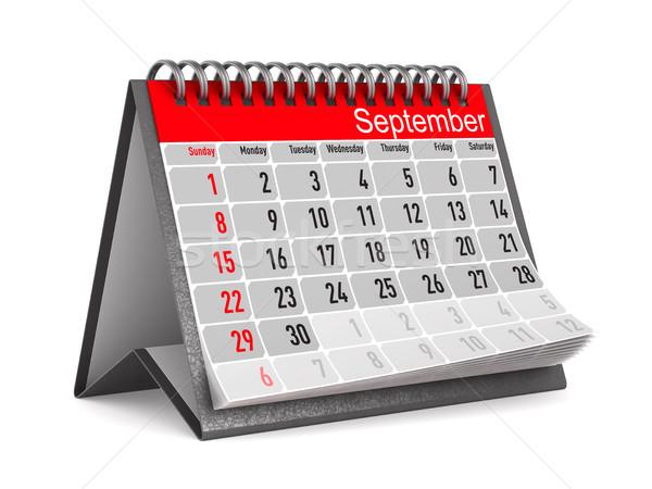 Calendar for September. Isolated 3D illustration Stock photo © ISerg