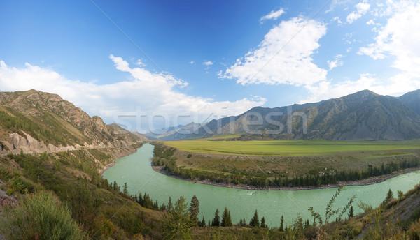 Góry rzeki Rosja charakter lata dziedzinie Zdjęcia stock © ISerg