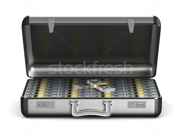 Caso dinheiro branco isolado ilustração 3d financiar Foto stock © ISerg