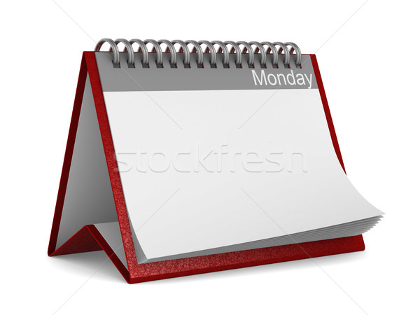 Calendar for monday on white background. Isolated 3D illustratio Stock photo © ISerg