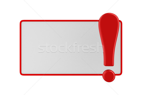 billboard with exclamation point on white. Isolated 3D image Stock photo © ISerg