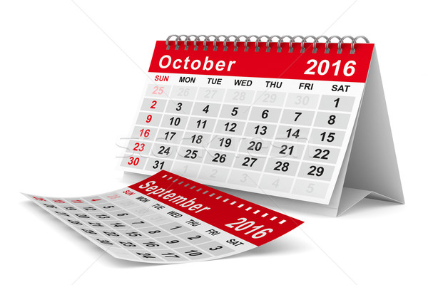 2016 év naptár izolált 3D kép Stock fotó © ISerg