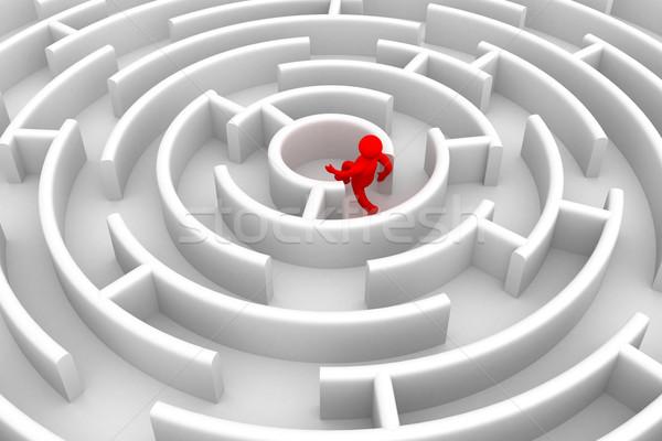 Realização propósito 3D imagem saltar sucesso Foto stock © ISerg