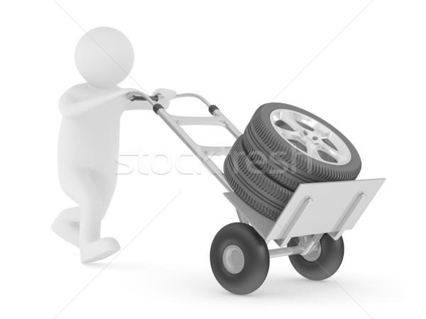 Gomme mano camion isolato 3D immagine Foto d'archivio © ISerg
