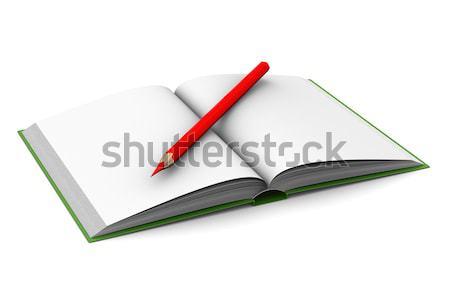 Stock fotó: Nyitás · könyv · fehér · 3D · kép · oktatás
