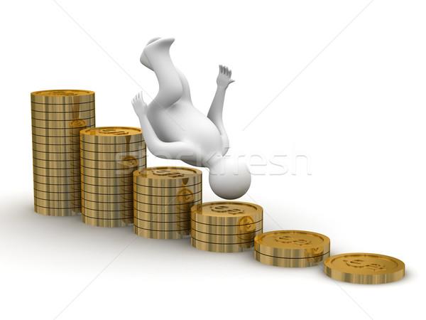 Finansal kriz yalıtılmış 3D görüntü iş para Stok fotoğraf © ISerg