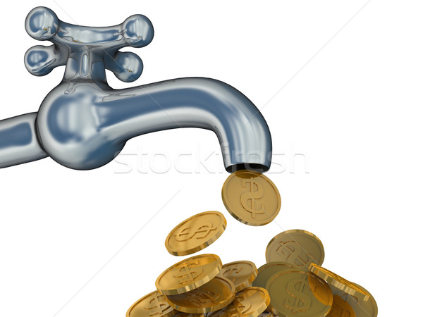 Financial stream. 3D image. The isolated illustration Stock photo © ISerg