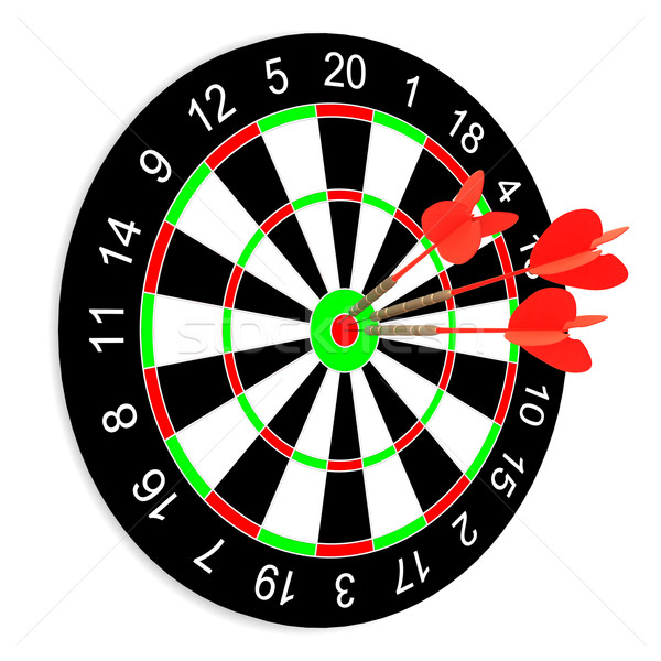 Darts weiß isoliert 3D Bild Business Stock foto © ISerg