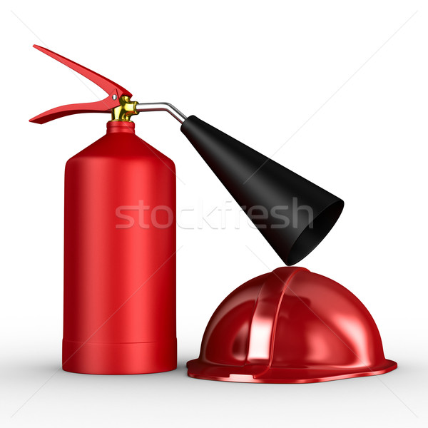 fire extinguisher on white background. Isolated 3D image Stock photo © ISerg