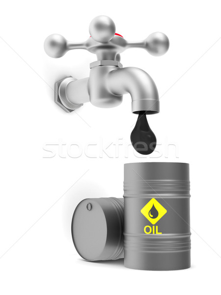 concept oil production on white background. Isolated 3D image Stock photo © ISerg