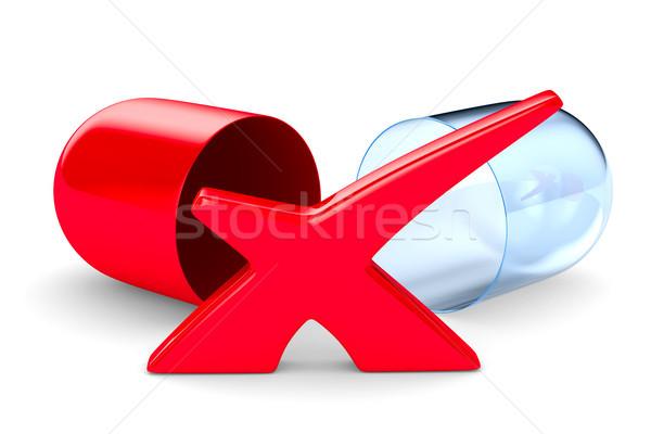 capsule on white background. Isolated 3D illustration Stock photo © ISerg