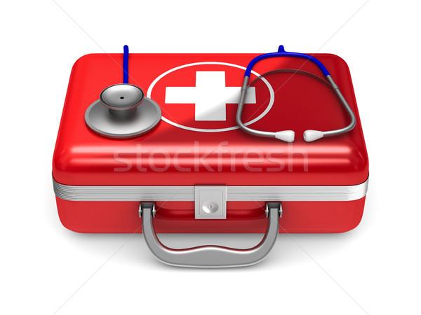 Primeiro socorro branco isolado ilustração 3d médico Foto stock © ISerg