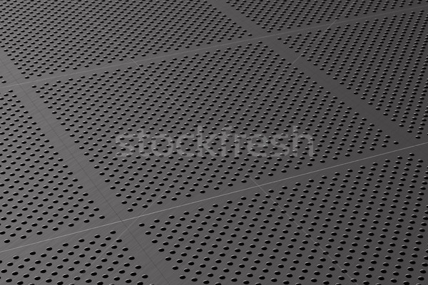 Metalen paneel 3d illustration muur abstract technologie Stockfoto © ISerg