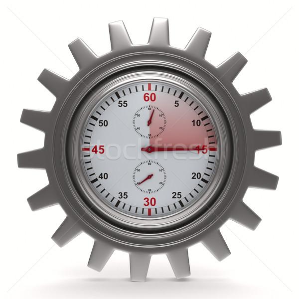 Kronometre beyaz yalıtılmış 3D görüntü hızlandırmak Stok fotoğraf © ISerg