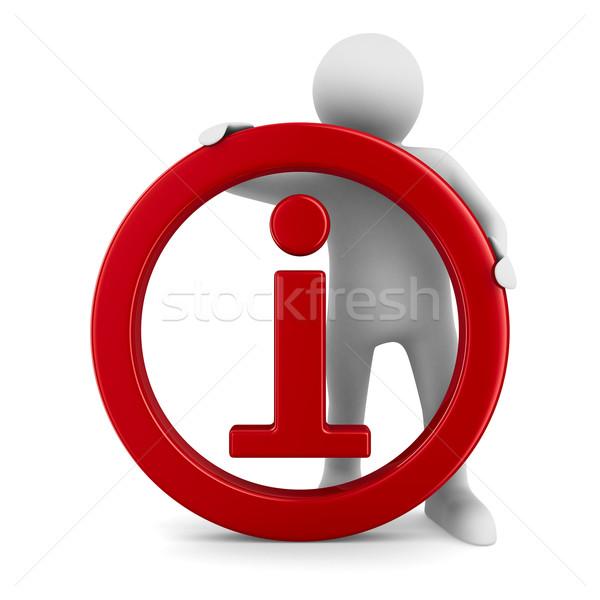 Symbole informations blanche isolé 3D image Photo stock © ISerg