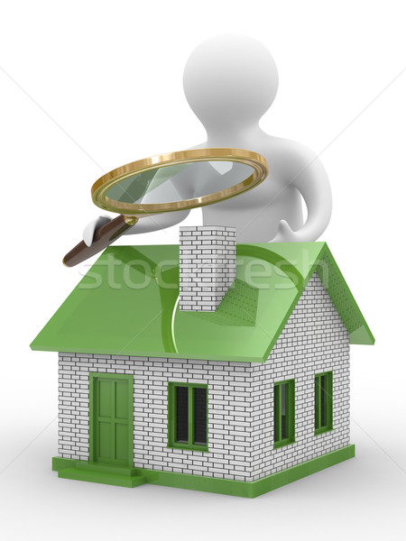 Search new house. Isolated 3D image on white Stock photo © ISerg