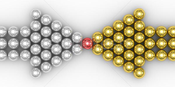 Stockfoto: Leiderschap · witte · geïsoleerd · 3D · afbeelding · metaal