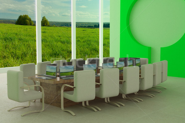 Conferenza 3D immagine business riunione panorama Foto d'archivio © ISerg