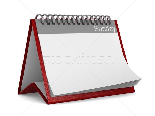 Calendar for sunday on white background. Isolated 3D illustratio Stock photo © ISerg