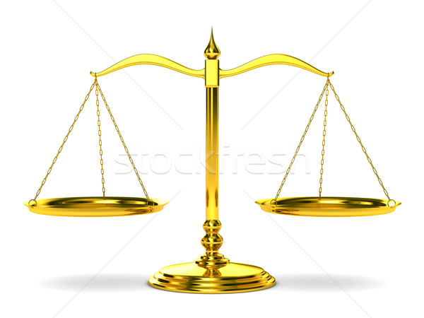 Scales justice on white background. Isolated 3D image Stock photo © ISerg