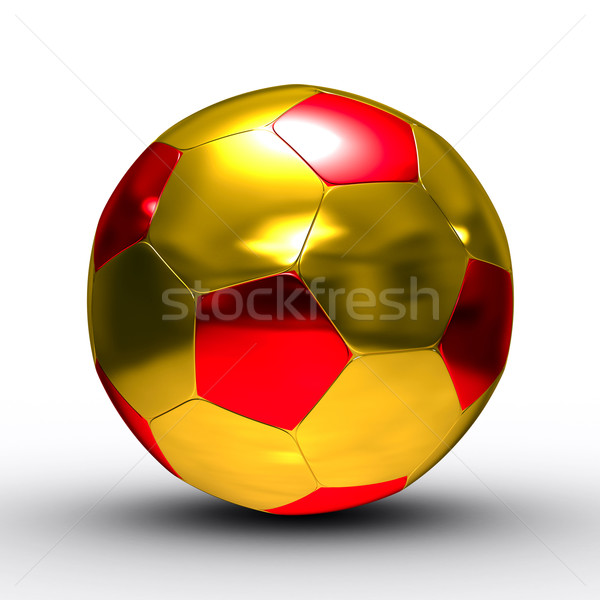 soccer ball on white background. Isolated 3D image Stock photo © ISerg