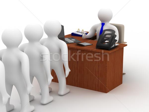 Office life. 3D image on white background Stock photo © ISerg