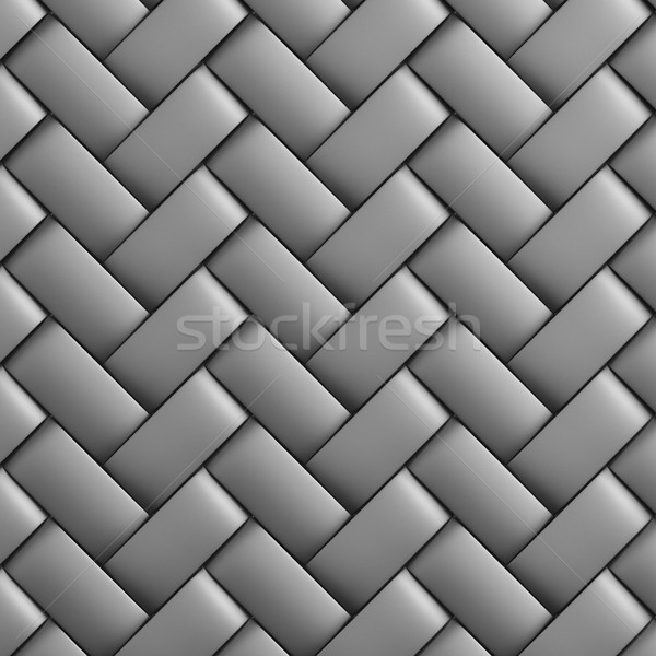 Abstract decorative metallic textured basket weaving. 3D image Stock photo © ISerg