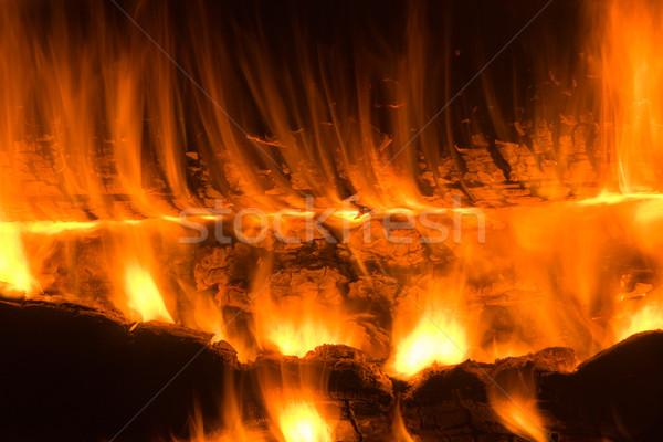 Fogueira ardente abstração textura natureza luz Foto stock © ISerg