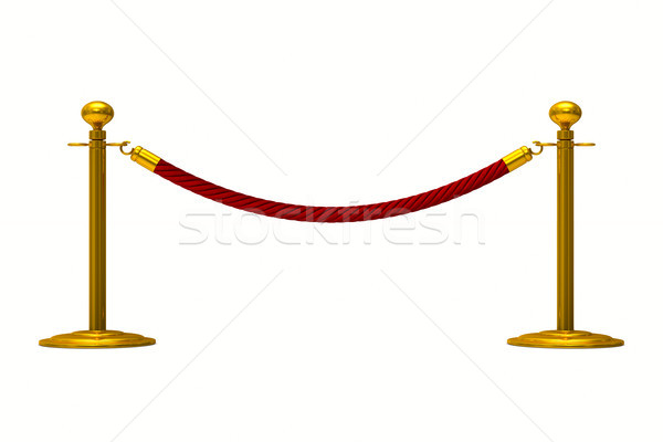 Halat beyaz yalıtılmış 3d illustration kırmızı sinema Stok fotoğraf © ISerg