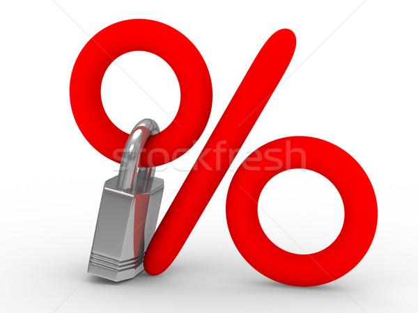 Blocking percent on white background. Isolated 3D image Stock photo © ISerg