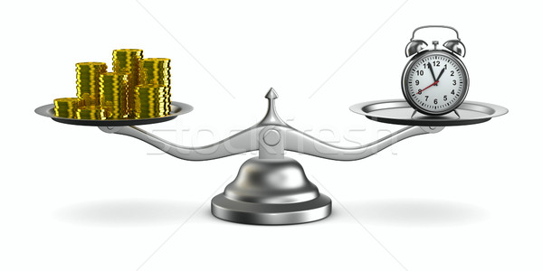 Время-деньги изолированный 3D изображение время Смотреть Сток-фото © ISerg
