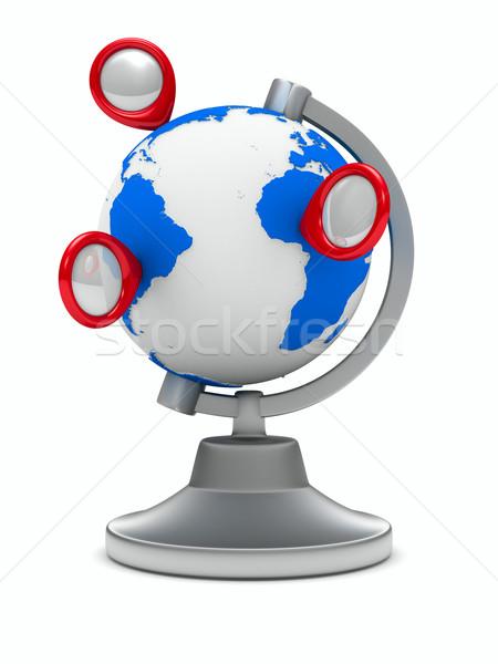 globe on white background. Isolated 3D image Stock photo © ISerg