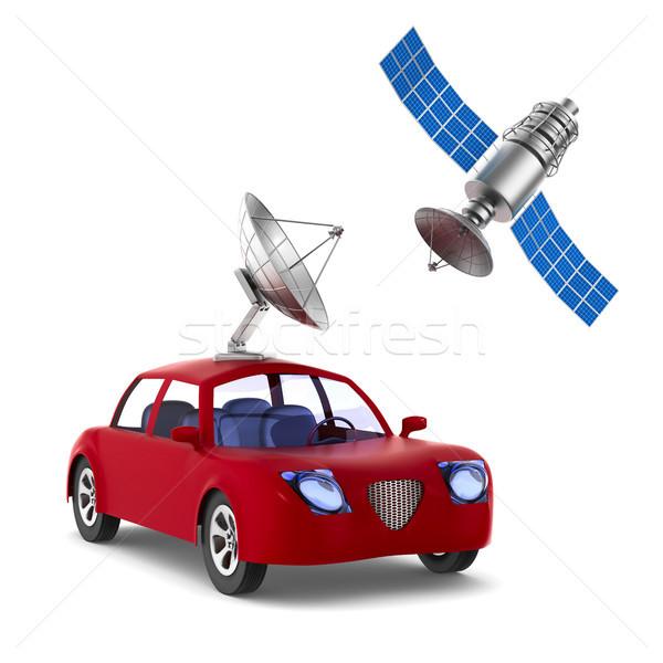 Navigation isolé 3d illustration voiture espace mobiles Photo stock © ISerg