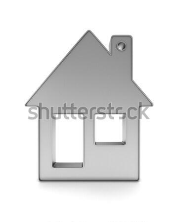 Métallique babiole maison blanche isolé 3D Photo stock © ISerg