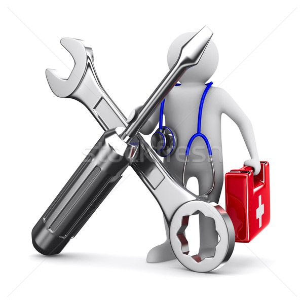 technical service. Isolated 3D image Stock photo © ISerg