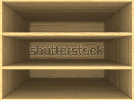 empty wooden box. 3D image Stock photo © ISerg