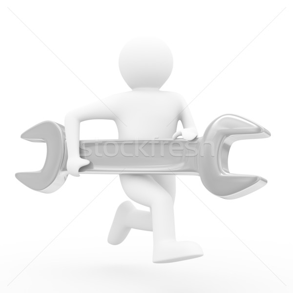 Stock photo: fast technical help on white. Isolated 3D image