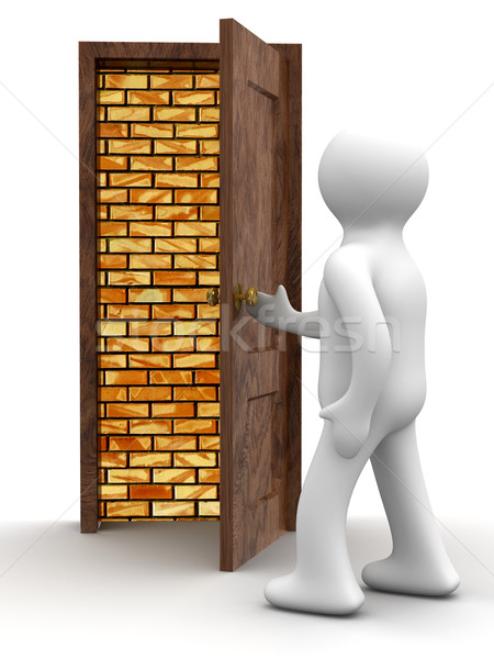 exit is not present. Isolated 3D image Stock photo © ISerg