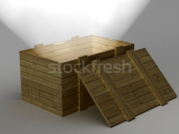 Open vak licht 3D afbeelding achtergrond Stockfoto © ISerg